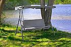 Садова гойдалка 3-х місна Relax з дашком для саду, дачі, фото 5