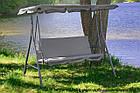 Садова гойдалка 3-х місна Relax з дашком для саду, дачі, фото 7