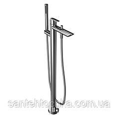 Смеситель для ванны напольный Bianchi Dream VSCDRM2240#CRM с душевым комплектом, h-876 мм L-222 мм