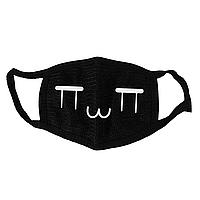 Маска тканевая Geekland Аниме рожицы грустная рожица чёрная MS 026