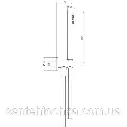 Набор для гигиенического душа Bianchi Steel KITSTE241000INX, фото 2