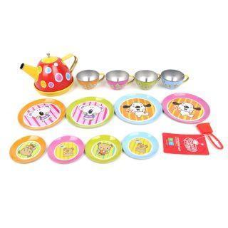 Детский металлический игровой набор посуды 831112-В