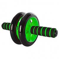 Тренажер колесо для пресса PROFI зелёный