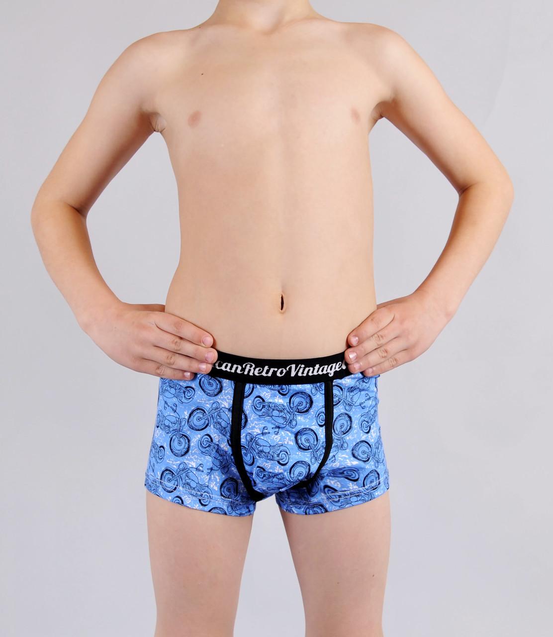 Трусики - боксери Natural Club  #1108 134 см синій