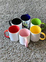 Чашки цветные с фото,картинкой,надписью,поздравлением под заказ