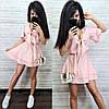 Короткое платье в горошек с пышной юбкой