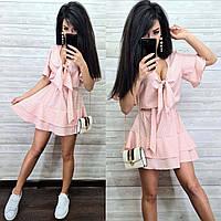 Короткое платье в горошек с пышной юбкой, фото 1