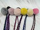 Резинки для волос меховые Ø4 см с косичками 12 шт/уп., фото 2