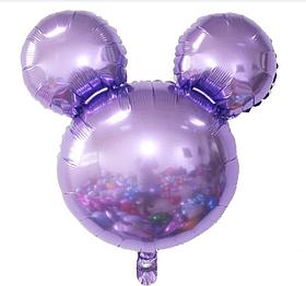 Фольгированный шар Микки сиреневый.Размер 63*69 см.