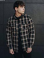 Рубашка мужская Staff brown