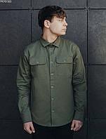 Рубашка мужская Staff khaki однотонная