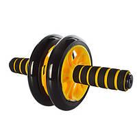 Тренажер колесо для пресса PROFI желтый