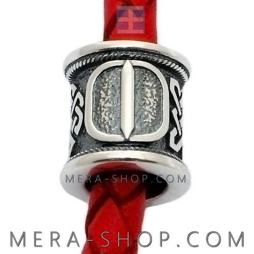 Серебряная руна Иса бусина шарм из серебра 925 пробы
