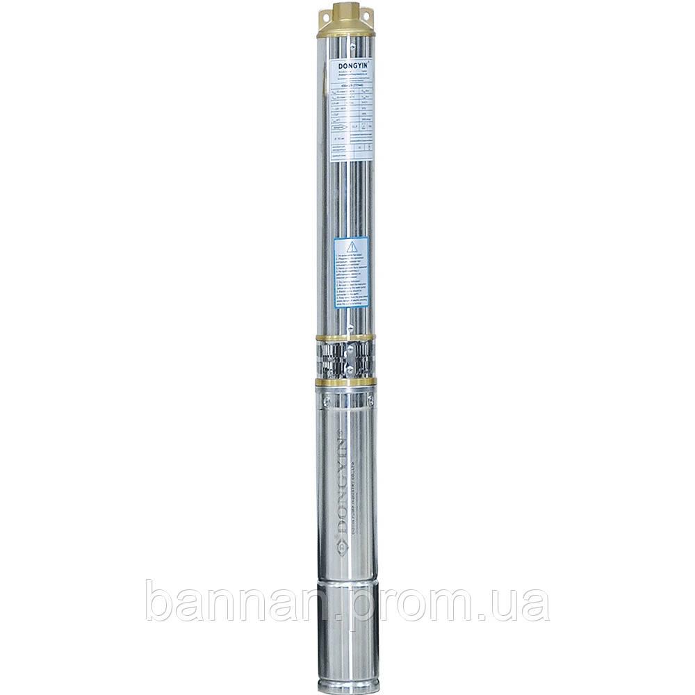 Насос центробежный скважинный 1.1кВт H 93(69)м Q 90(60)л/мин Ø80мм AQUATICA (DONGYIN) (777094)