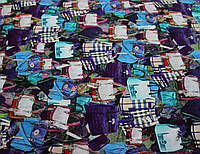 Штапель цветной дамские сумочки вискоза с эластаном Y 48