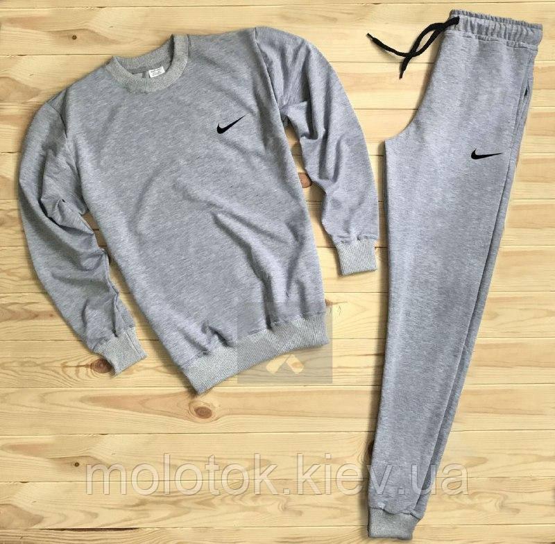 Спортивный костюм Nike серый на манжете Реплика