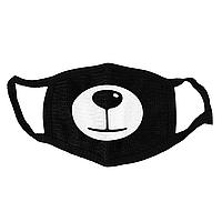 Маска тканевая Geekland Кей Поп Аниме рожицы медведь 2 K-Pop чёрная MS 032
