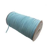Шнурок-резинка круглый Luxyart 3 мм голубой, 500 метров (Р3-3)