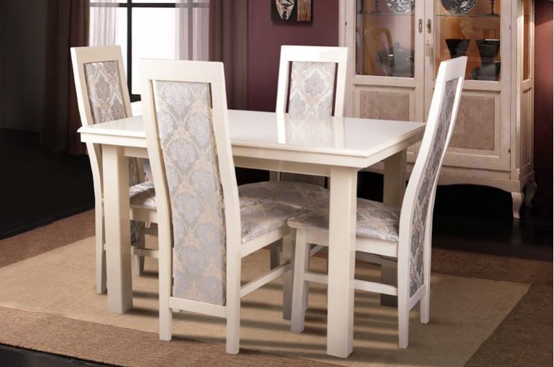 Стол обеденный  Европа Микс мебель, цвет  слоновая кость