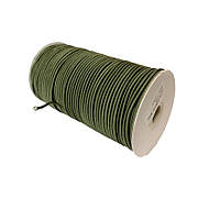 Шнурок-резинка круглый Luxyart 3 мм оливковый, 500 метров (Р3-4)
