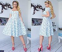 Летнее легкое платье клеш по колено размеры 48-54 арт 2121