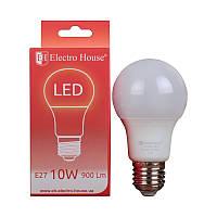 ElectroHouse LED лампа  E27 4100K / 10W 900Lm /220° A60