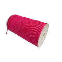 Шнурок-резинка круглый Luxyart 3 мм розовый, 500 метров (Р3-8)