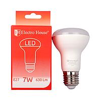 ElectroHouse LED лампа E27 4100K / 7W 630Lm /220° R63