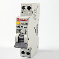 ElectroHouse ДИФЕРЕН Автомат 40А 1P+N(1 модуль) 30mA 6kA 230-240V IP20