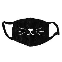 Маска тканевая Geekland Аниме мордочка кошки Anime чёрная MS 043