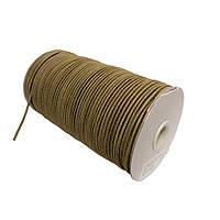 Шнурок-резинка круглый Luxyart 3 мм хаки, 500 метров (Р3-10)
