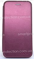 Чехол книжка Aspor для Samsung J415/J4+ leather бордовый