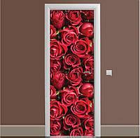 Декоративная виниловая наклейка на дверь ReD Бутоны роз, 65х200 см