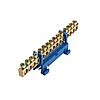 ElectroHouse Шина нулевая 15 отверстий на DIN рейку