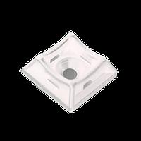 ElectroHouse Площадка для стяжки [хомутов] универсальная 20х20 мм белая нейлон