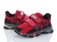 Кроссовки в красном цвете для детей с подсветкой