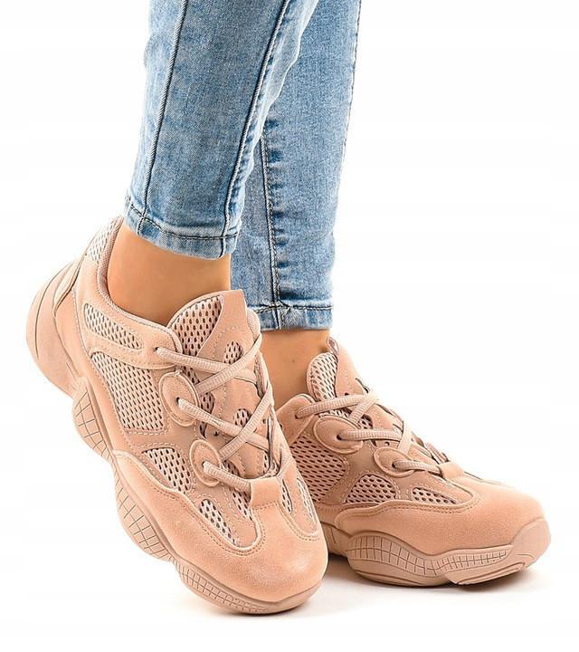 Женские кроссовки с неоновой сеткой