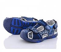 Синие спортивные босоножки на липучках