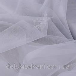 Відріз м'ягкого фатину світло-сірого кольору, 0.5 метра (50*300 см)