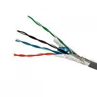 ElectroHouse Кабель FTP 4х2х0,51 сірий CCA (внутр. монтаж)
