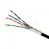 ElectroHouse Кабель FTP 4х2х0,51 Cu чорний (зовнішній монтаж)