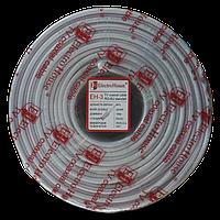 ElectroHouse Телевізійний (коаксіальний) кабель RG-6U CCS 1,02 Cu білий ПВХ