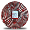ElectroHouse Кабель RG-6U 64% ССS 1,02 Медная фольга 64 медных жил Силикон / прозрачный