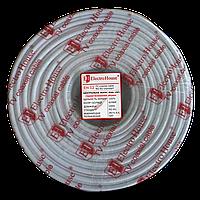 ElectroHouse Телевізійний (коаксіальний) кабель RG-6U Cu 1,02 Cu гермет. фольга білий ПВХ
