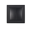 ElectroHouse Вимикач подвійний Бездоганний графіт Enzo IP22