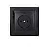 ElectroHouse Розетка без заземлення Бездоганний графіт Enzo 16A IP22