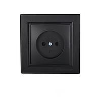 ElectroHouse Розетка без заземления Безупречный графит Enzo 16A IP22