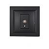 ElectroHouse Розетка телевізійна Бездоганний графіт Enzo IP22