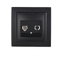ElectroHouse Розетка комп'ютерна Бездоганний графіт Enzo 1x8P8C IP22