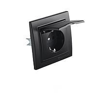 ElectroHouse Розетка с крышкой, IP44, с/з 16А